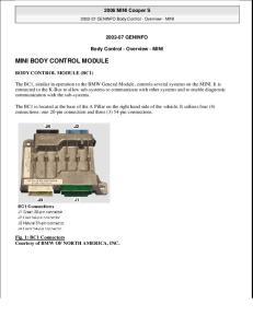 MINI BODY CONTROL MODULE