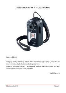 Mini kamera Full HD (AC-1080.ir)