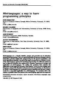 Mini-languages: a way to learn programming principles