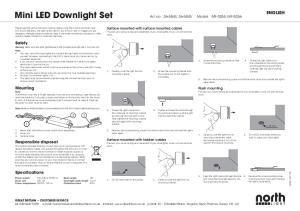 Mini LED Downlight Set Art.no , Model MF-3055, MF-3056