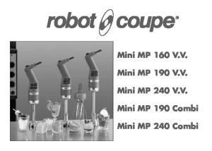 Mini MP 160 V.V. Mini MP 190 V.V. Mini MP 240 V.V. Mini MP 190 Combi. Mini MP 240 Combi