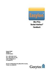 Mini PCIe Socket Interface+ Handbuch