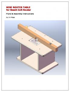 MINI ROUTER TABLE for Bosch Colt Router Plans & Assembly Instructions