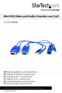 Mini VGA Video and Audio Extender over Cat5
