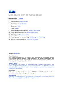 Miniature Series Catalogue