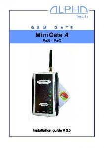 MiniGate A FxS - FxO Installation guide V 2.0