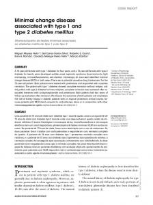 Minimal change disease associated with type 1 and type 2 diabetes mellitus