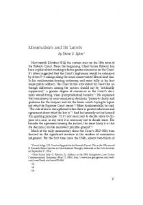 Minimalism and Its Limits
