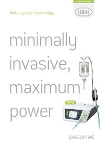 minimally invasive, maximum power