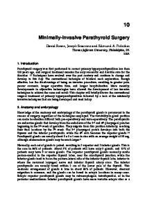 Minimally-Invasive Parathyroid Surgery