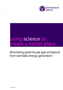 Minimising greenhouse gas emissions from biomass energy generation
