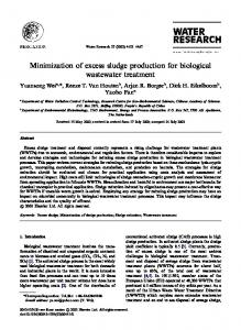 Minimization of excess sludge production for biological wastewater treatment