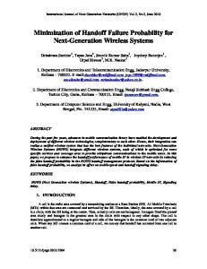 Minimization of Handoff Failure Probability for Next-Generation Wireless Systems