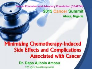 Minimizing Chemotherapy-Induced Side Effects and Complications Associated with Cancer