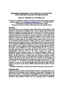 MINIMIZING ENVIRONMENTAL POLLUTION OF LEAD BY SOLVENT- EXTRACTION RECYCLING OF LEAD FROM E-WASTES