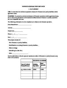MINIMUM SEPARATION DISTANCE 1. DATA SHEET