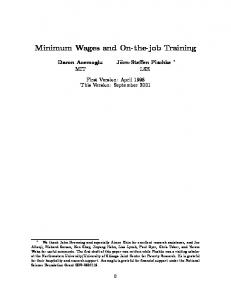 Minimum Wages and On-the-job Training