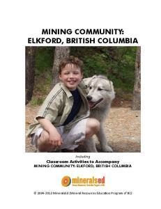 MINING COMMUNITY: ELKFORD, BRITISH COLUMBIA