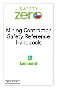 Mining Contractor Safety Reference Handbook