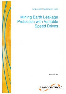 Mining Earth Leakage Protection with Variable Speed Drives