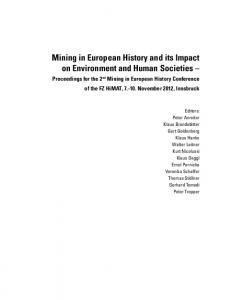 Mining in European History and its Impact on Environment and Human Societies