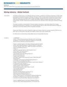 Mining Industry - Global Outlook