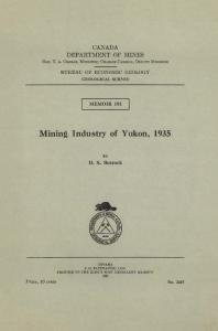 Mining Industry of Yukon, 1935