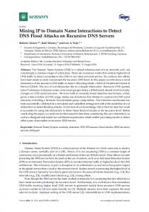 Mining IP to Domain Name Interactions to Detect DNS Flood Attacks on Recursive DNS Servers