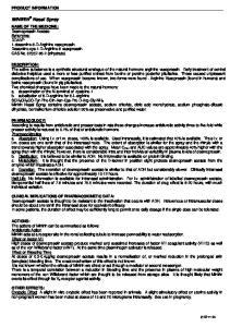 MINIRIN Nasal Spray PRODUCT INFORMATION