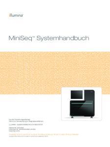 MiniSeq Systemhandbuch
