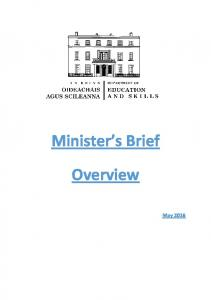 Minister s Brief. Overview