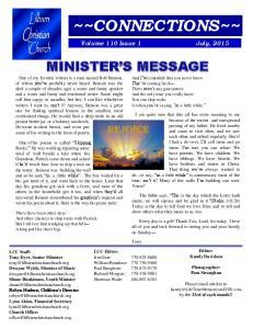 MINISTER S MESSAGE. Tony