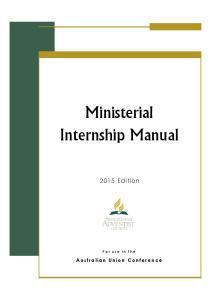 Ministerial Internship Manual