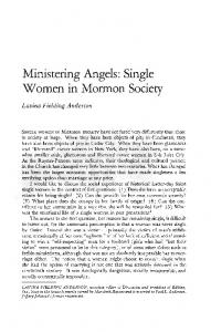 Ministering Angels: Single Women in Mormon Society