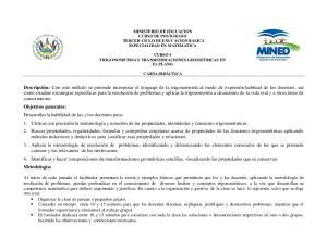 MINISTERIO DE EDUCACION CURSO DE POSTGRADO TERCER CICLO DE EDUCACION BASICA ESPECIALIDAD EN MATEMATICA