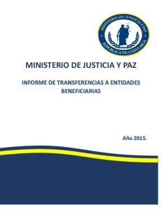 MINISTERIO DE JUSTICIA Y PAZ