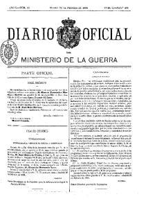 MINISTERIO DE LA GUERRA
