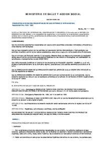 MINISTERIO DE SALUD Y ACCION SOCIAL
