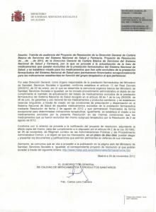 MINISTERIO DE SANIDAD SERVICIOS SOCIALES E IGUALDAD. SECRETARIA GENERAL DE SANIDAD Y CONSUMO