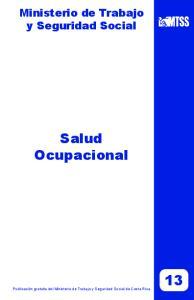 Ministerio de Trabajo y Seguridad Social Salud Ocupacional