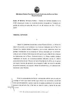 Ministerio Publico Fiscal de la Ciudad Aut6noma Fiscalia General