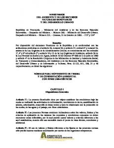 MINISTERIOS DEL AMBIENTE Y DE LOS RECURSOS NATURALES RENOVABLES Y DEL DESARROLLO URBANO