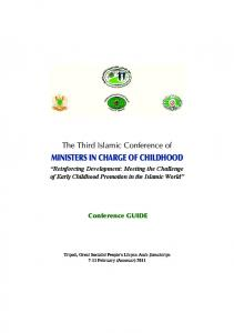 MINISTERS IN CHARGE OF CHILDHOOD