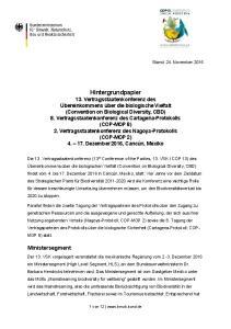 Ministersegment. Stand: 24. November 2016