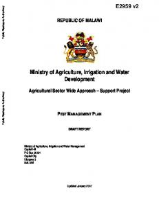 Ministry of Agriculture, Irrigation and Water Development