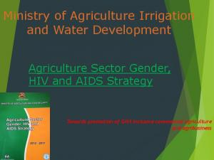 Ministry of Agriculture Irrigation and Water Development