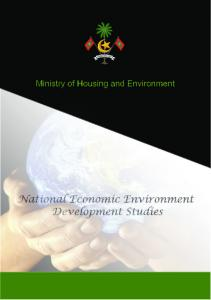 Ministry of Housing and Environment. National Economic Environment Development Studies
