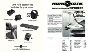 Minn Kota accessories available for your motor