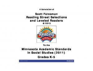 Minnesota Academic Standards in Social Studies (2011) Grades K-5