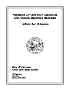 Minnesota City and Town Accounting and Financial Reporting Standards